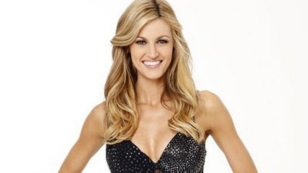 "DANCING WITH THE STARS - ERIN ANDREWS - Since joining ESPN in 2004, Erin Andrews has become one of the most well-known sports reporters in the country. She teams with MAKSIM CHMERKOVSKIY, who returns for his eighth season. The all-new cast of celebrities and their professional partners hit the dance floor on ABC's ""Dancing with the Stars"" with the highly anticipated two-hour season premiere, MONDAY, MARCH 22 (8:00-10:00 p.m., ET) on the ABC Television Network. (ABC/CRAIG SJODIN)"