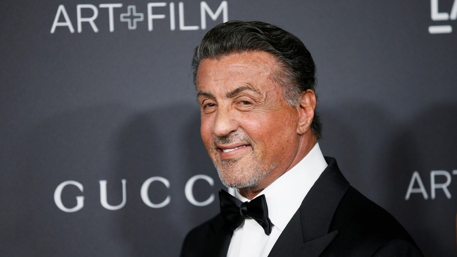 Actor Sylvester Stallone poses at the Los Angeles County Museum of Art Film Gala in Los Angeles, October 29, 2016.