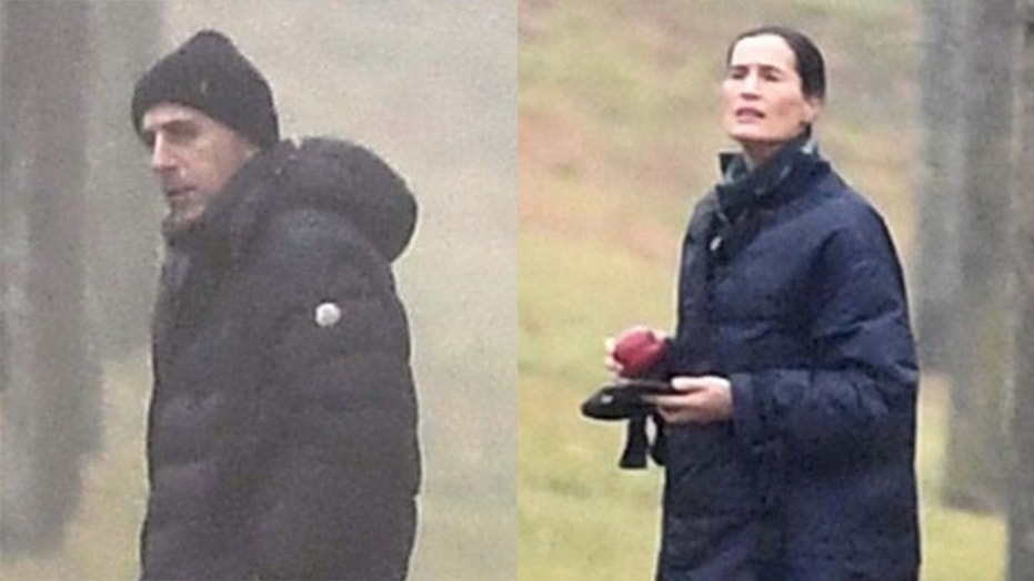 Matt Lauer, right, and his estranged wife Annette Roque were spotted on Long Island.