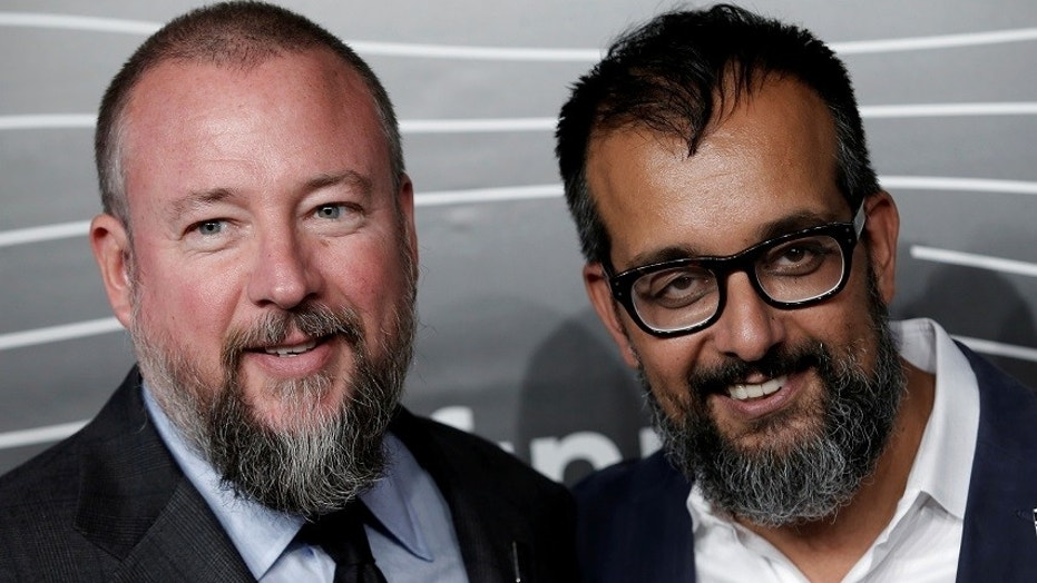 Vice Media co-founders Shane Smith, left, and Suroosh Alvi are seen in New York City, May 16, 2016.