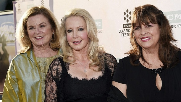 "Cast members actresses Heather Menzies-Urich (L), Kym Karath (C) and Debbie Turner pose during 50th anniversary screening of musical drama film ""The Sound of Music"" at the opening night gala of the 2015 TCM Classic Film Festival in Los Angeles, California March 26, 2015. REUTERS/Kevork Djansezian - GF10000040244"