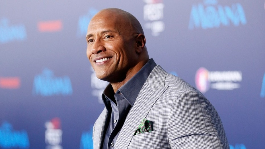 "Dwayne ""The Rock"" Johnson will wear all black to protest sexual harassment. Here the actor attends the premiere of his 2016 film, 'Moana.'"