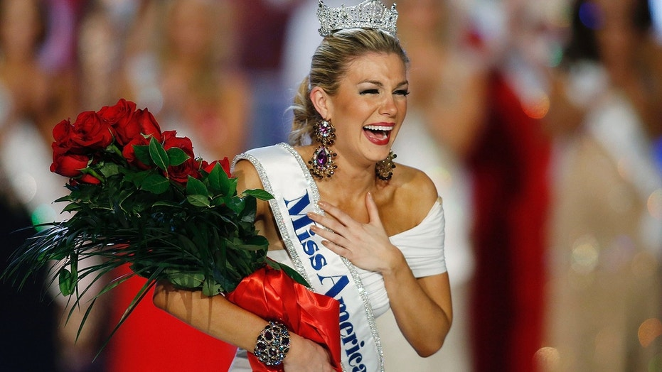 Jan. 12, 2013: Miss New York Mallory Hytes Hagan reacts as she is crowned Miss America 2013 in Las Vegas.