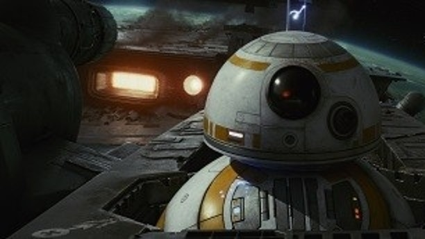 This image released by Lucasfilm shows BB-8 in