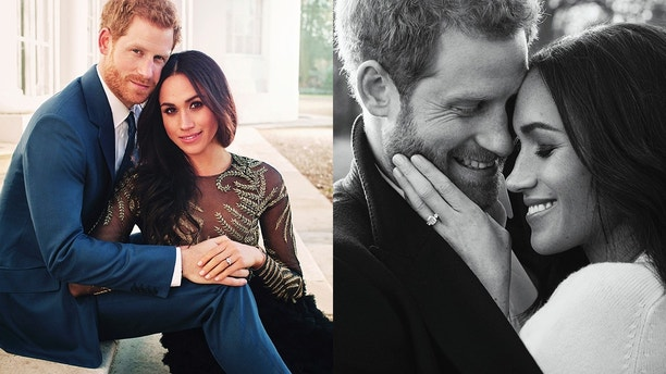 MEGHAN MARKLE PRINCE HARRY ENGAGEMENT PICS AP