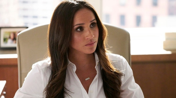 "SUITS -- ""Brooklyn Housing"" Episode 705 -- Pictured: Meghan Markle as Rachel Zane -- (Photo by: Ian Watson/USA Network)"