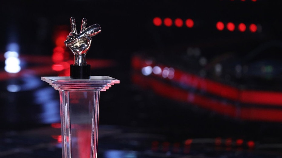 "THE VOICE -- ""Live Finale"" Episode 1321B -- Pictured: The Voice Trophy -- (Photo by: Tyler Golden/NBC)"