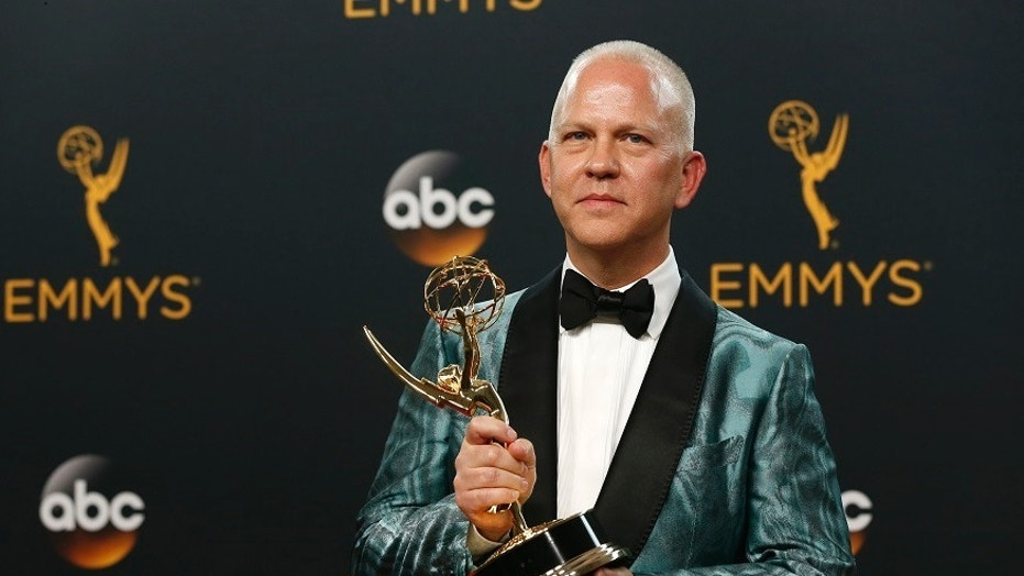 "Ryan Murphy said he needed a break from what he described as the ""dark, cynical Trump era"" we live in right now. He's pictured here at the 68th Primetime Emmy Awards in Los Angeles on Sept. 18, 2016."