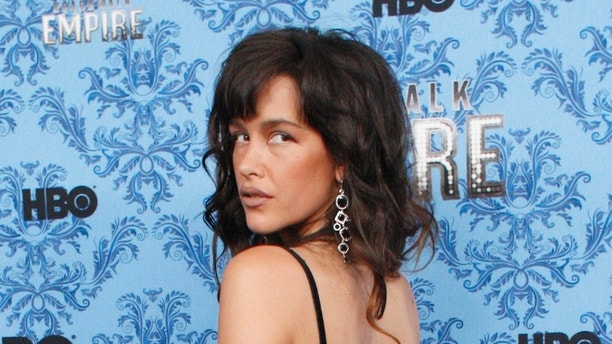Cast member Paz de la Huerta poses during a photo call for the premiere of the second season of