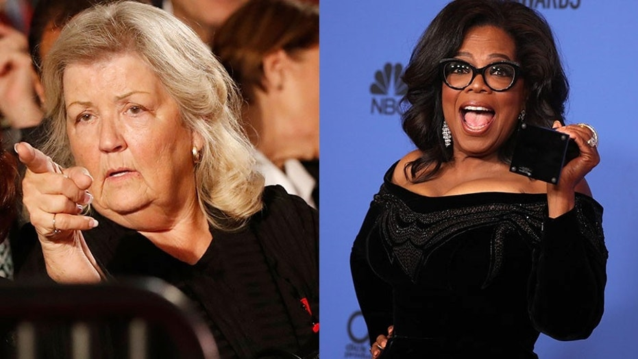 Juanita Broaddrick (left) slammed Oprah Winfrey's Golden Globes speech, claiming the celebrity talk show host ignored her claims that former President Bill Clinton raped her over 20 years ago.