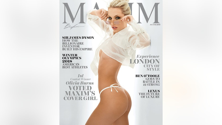 Olivia Burns of Wellington, Florida is Maxim Magazine's new cover for their January/February 2018 issue.