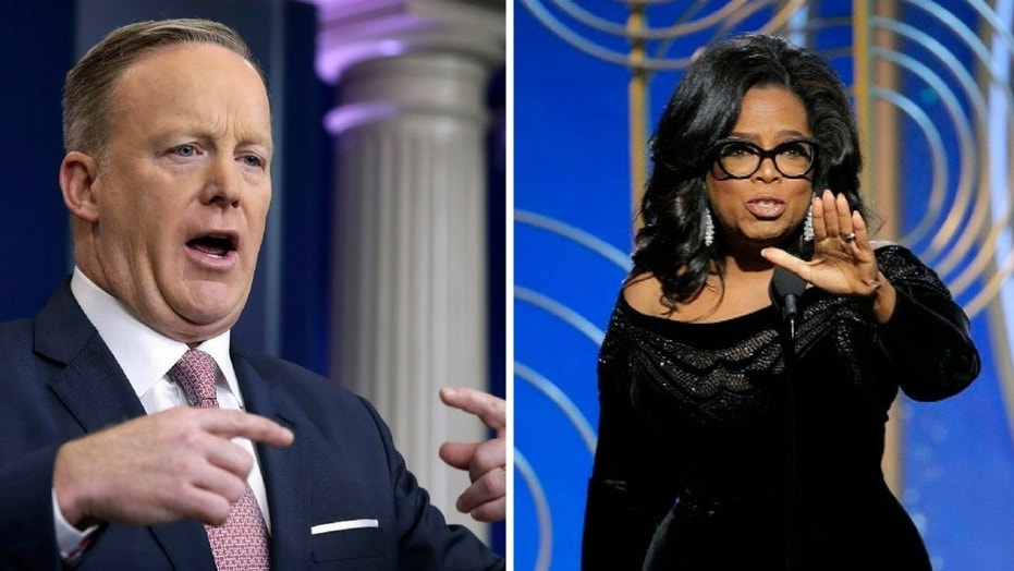 Sean Spicer said Oprah Winfrey does not have the political experience to be president of the United States.