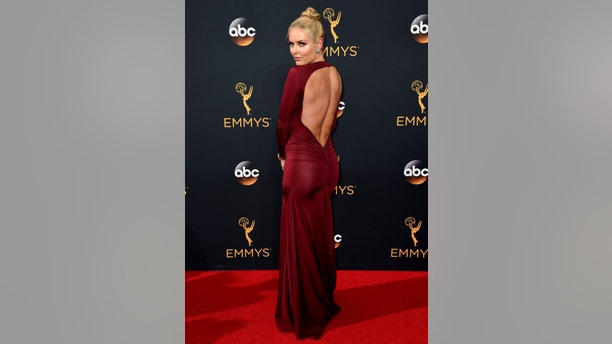 Lindsey Vonn arrives at the 68th Primetime Emmy Awards on Sunday, Sept. 18, 2016, at the Microsoft Theater in Los Angeles. (Photo by Jordan Strauss/Invision/AP)