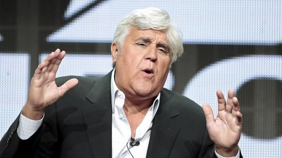 "Jay Leno said late-night talk show hosts all talk about ""depressing Trump stuff."""