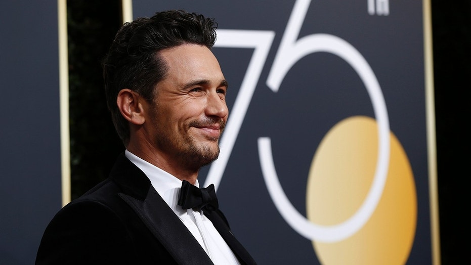 James Franco arrives at the Golden Globe Awards in Beverly Hills, Calif., Jan. 7, 2018.