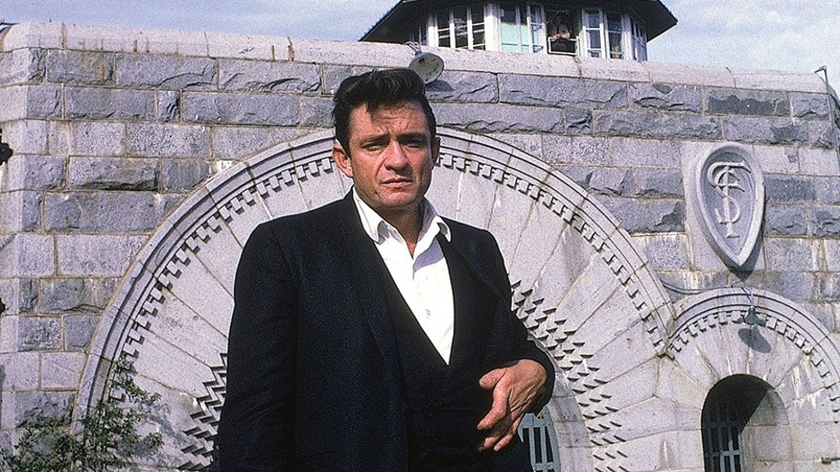 Johnny Cash outside Folsom Prison on Jan. 13, 1968. The album he generated from his performance there has resonated through the years.