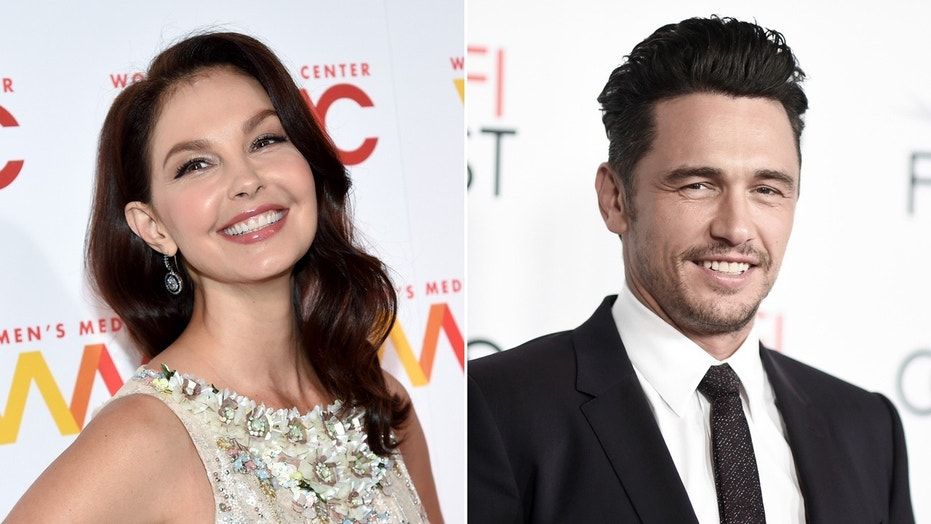 Actress Ashley Judd (left) praised James Franco (right) for his response to the recent sexual misconduct allegations brought against him by five women.