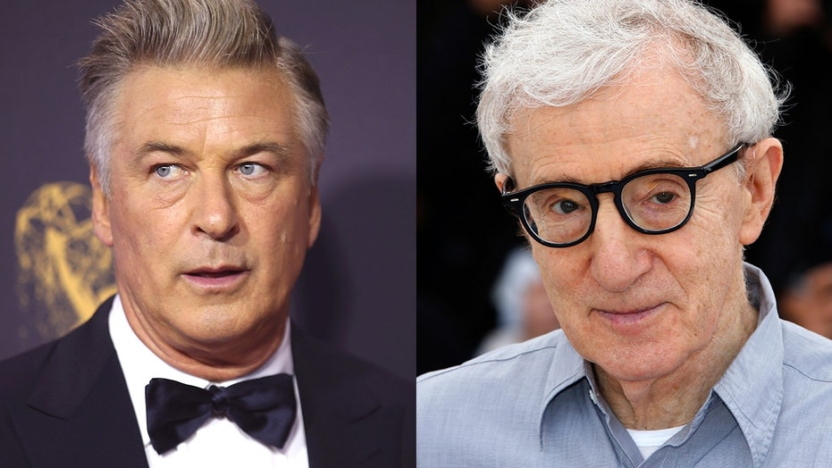 Alec Baldwin (left) defended Woody Allen (right) after several actors expressed regret working with the famed director over sexual misconduct allegations.