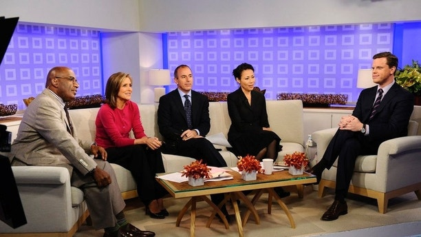 """Pictured: (l-r) Al Roker, Meredith Vieira, Matt Lauer, Ann Curry, Willie Geist -- """"Today"""" show co-hosts Al Roker, Meredith Vieira, Matt Lauer, Ann Curry talk with Willie Geist about his new book 'American Freak Show' on the """"Today"""" show."""