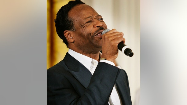 In this June 17, 2008 file photo, gospel singer Edwin Hawkins performs during an event celebrating Black Music Month in the East Room of the White House in Washington. Hawkins died early Monday at age 74.