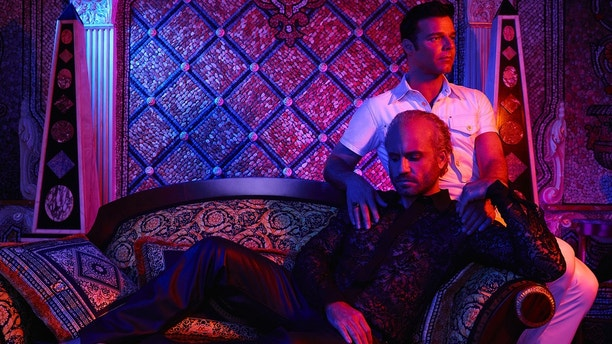 The Assassination of Gianni Versace: American Crime Story -- Pictured: (l-r) Edgar Ramirez as Gianni Versace, Ricky Martin as Antonio D'Amico. CR: Pari Dukovic/FX