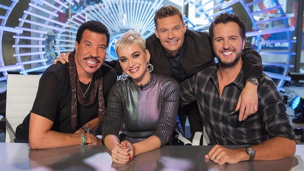 "AMERICAN IDOL - ABC's ""American Idol"" judges Lionel Richie, Katy Perry and Luke Bryan with host Ryan Seacrest. (ABC/Eric Liebowitz)"
