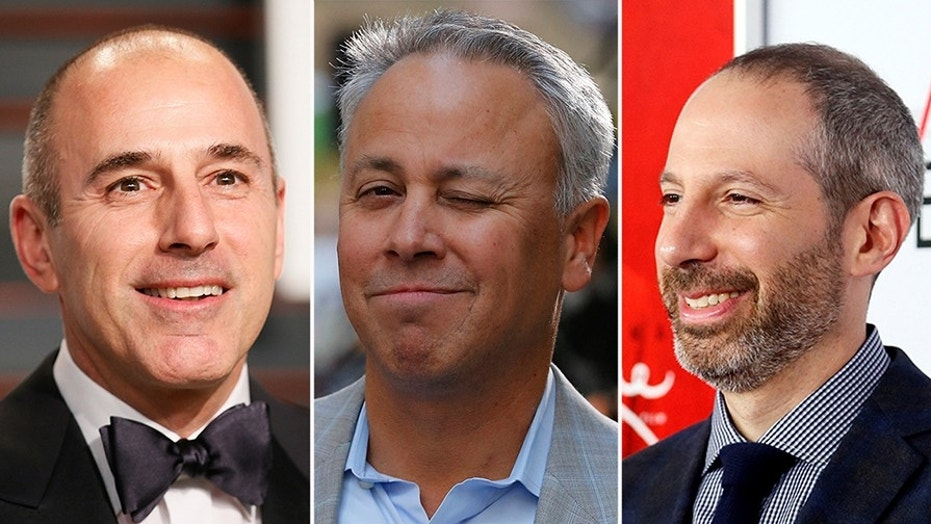 Matt Lauer (left) was fired for sexual misconduct but former 'Today' executive producer Don Nash (middle) and NBC News president Noah Oppenheim (right) deny knowing about his sleazy past.