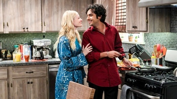 """The Separation Triangulation"" -- Pictured: Nell (Beth Behrs) and Rajesh Koothrappali (Kunal Nayyar). Koothrappali finds himself in the middle of domestic drama when he learns the woman he\'s dating, Nell (Beth Behrs), has a very upset husband, Oliver (Walton Goggins). Also, when Sheldon rents his old room back for a quiet place to work, he drives Leonard crazy by being a model tenant, on THE BIG BANG THEORY, Thursday, Jan. 18 (8:00-8:31 PM, ET/PT) on the CBS Television Network. Photo: Sonja Flemming/CBS ©2018 CBS Broadcasting, Inc. All Rights Reserved."