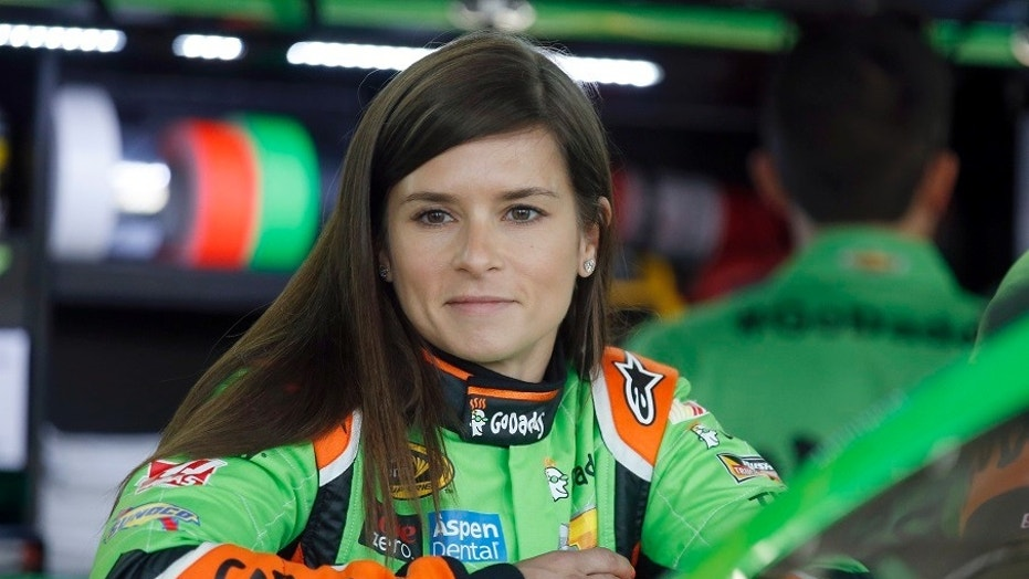 Danica Patrick steers away from Aaron Rodgers questions