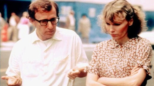 Woody Allen and Mia Farrow are shown in 1986.