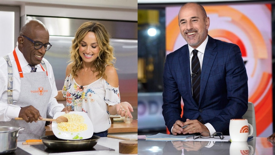 "Giada de Laurentiis appears on the ""Today"" show alongside Al Roker in June 2017; photo, left. Matt Lauer, above, right, may have cost her the gig."