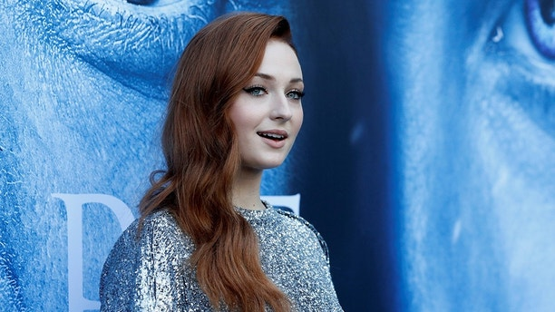 "Cast member Sophie Turner poses at a premiere for season 7 of the television series ""Game of Thrones"" in Los Angeles, California, U.S., July 12, 2017. REUTERS/Mario Anzuoni - RC167BB8D300"