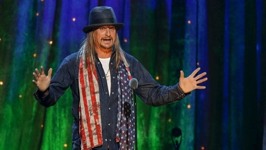 Kid Rock, pictured here at the 31st annual Rock and Roll Hall of Fame Induction Ceremony at the Barclays Center in Brooklyn, New York April 8, 2016, has donated $122,000 from sales of his merchandise to a voter-registration organization.