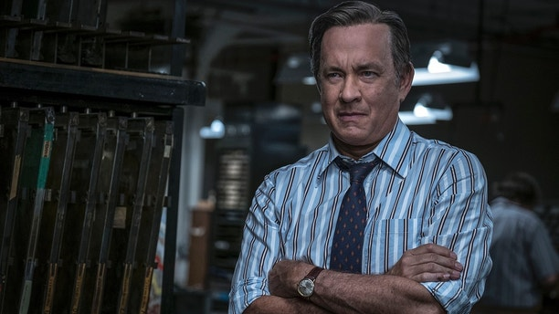 "In this image released by 20th Century Fox, Tom Hanks portrays Ben Bradlee in a scene from ""The Post."" On Monday, Dec. 11, 2017, Hanks was nominated for a Golden Globe for best actor in a motion picture drama for his role in the film."