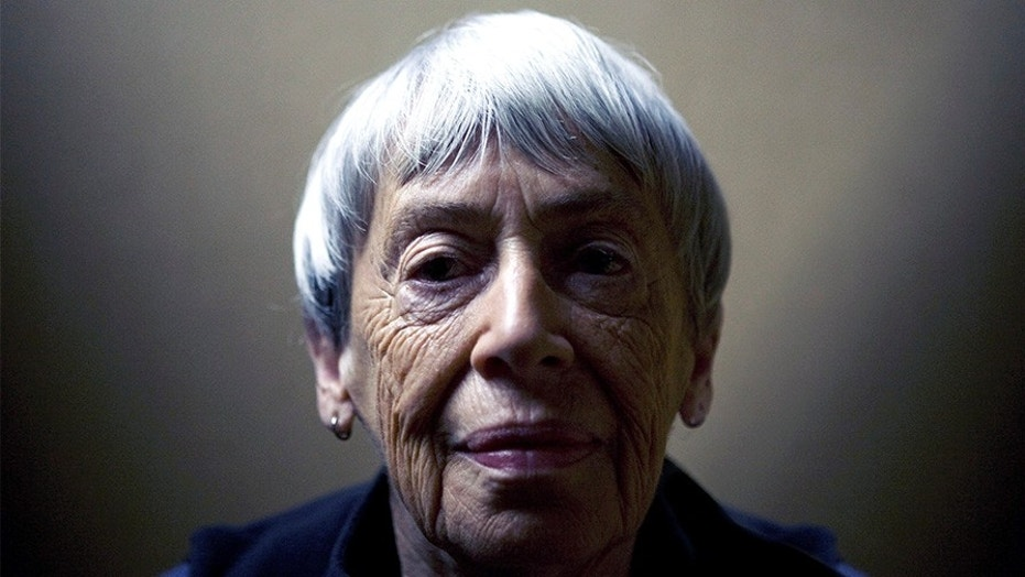 Ursula K. Le Guin (b. 1929), American writer, essayist, poet and author of novels, children's books and short stories. Photographed in Portland, OR, USA, September 18, 2008. (Writer Pictures via AP Images)
