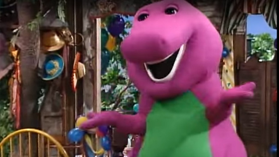 "David Joyner played Barney from 1991 to 2001 on PBS' ""Barney & Friends."""