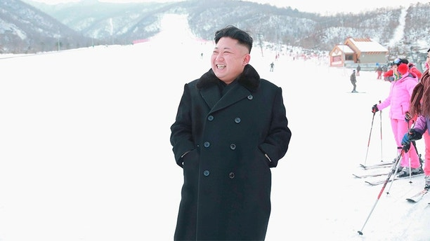 North Korean leader Kim Jong Un visits the newly built ski resort in the Masik Pass region, in this undated photo released by North Korea's Korean Central News Agency (KCNA) in Pyongyang on December 31, 2013. North Korea's state-run television KRT said Kim was satisfied with the ski resort after looking around its facilities which included a hotel, ski service and rental shops.     REUTERS/KCNA (NORTH KOREA - Tags: POLITICS SOCIETY TPX IMAGES OF THE DAY) ATTENTION EDITORS - THIS PICTURE WAS PROVIDED BY A THIRD PARTY. REUTERS IS UNABLE TO INDEPENDENTLY VERIFY THE AUTHENTICITY, CONTENT, LOCATION OR DATE OF THIS IMAGE. FOR EDITORIAL USE ONLY. NOT FOR SALE FOR MARKETING OR ADVERTISING CAMPAIGNS. THIS PICTURE IS DISTRIBUTED EXACTLY AS RECEIVED BY REUTERS, AS A SERVICE TO CLIENTS. NO THIRD PARTY SALES. NOT FOR USE BY REUTERS THIRD PARTY DISTRIBUTORS. SOUTH KOREA OUT. NO COMMERCIAL OR EDITORIAL SALES IN SOUTH KOREA - GM1E9CV1TOJ01