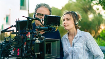 "This image released by A24 Films shows director Greta Gerwig on the set of ""Lady Bird."" Gerwig was nominated for an Oscar for best director, Tuesday, Jan. 23, 2018. The 90th Oscars will air live on ABC on Sunday, March 4.  (Merie Wallace/A24 via AP)"