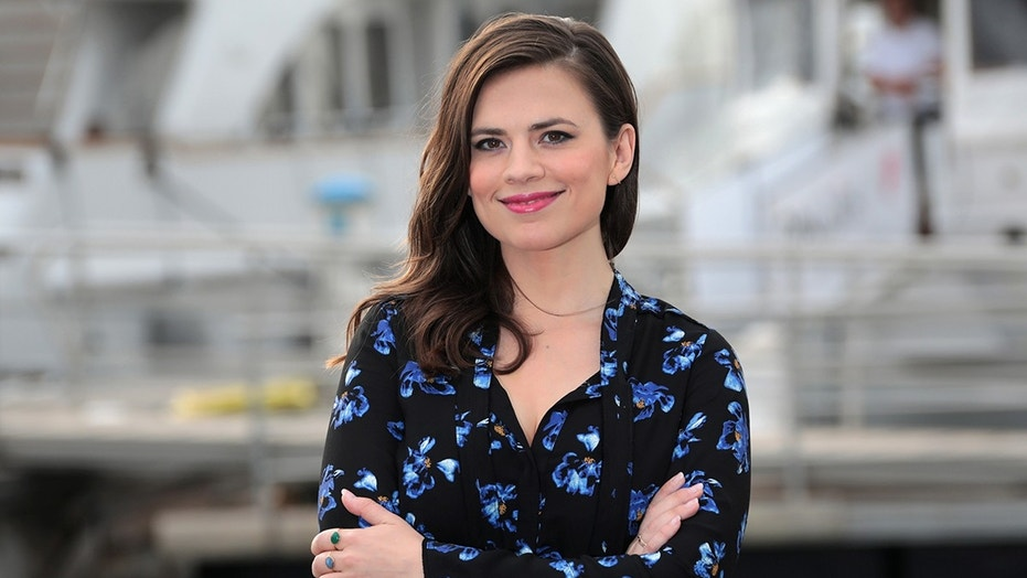 Actress Hayley Atwell poses during a photocall for the television series