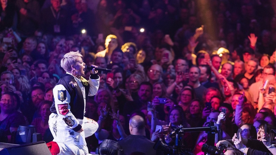 Pink completes pre-Super Bowl concert despite fighting off the flu