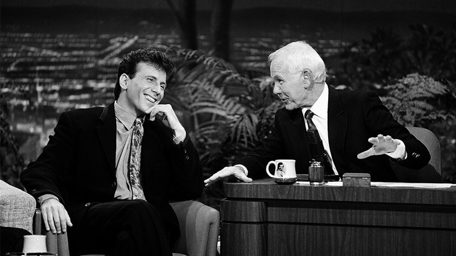 Comedian Paul Reiser during an interview with host Johnny Carson on November 8, 1990.