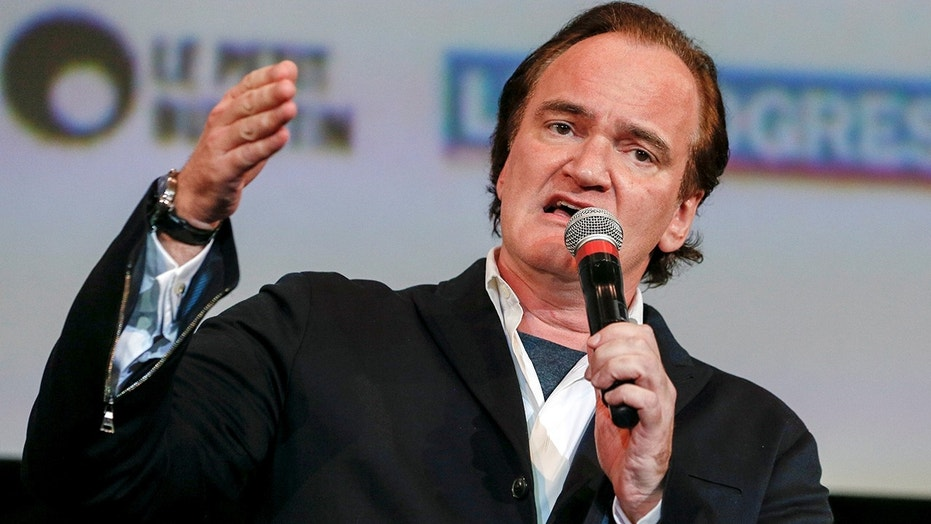 Director Quentin Tarantino speaks at the opening day of the Lumiere Festival in Lyon, France, October 8, 2016.