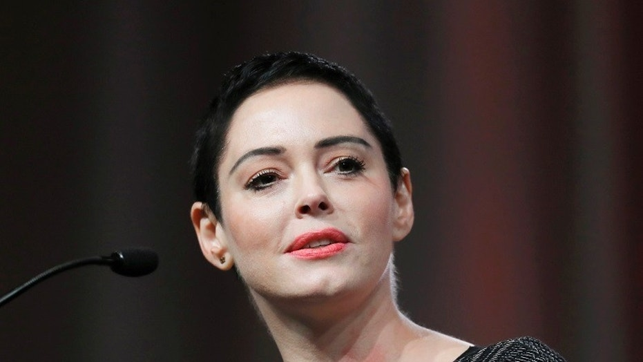 Jill Messick had worked as actress Rose McGowan's manager in 1997 during the time the actress claimed producer Harvey Weinstein raped her. In this 2017 file photo, McGowan speaks at the inaugural Women's Convention in Detroit.