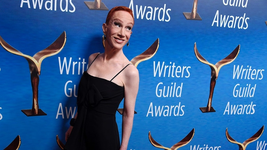 Comedian Kathy Griffin poses at the 2018 Writers Guild Awards at the Beverly Hilton on Sunday, Feb. 11, 2018, in Beverly Hills, Calif. (Photo by Chris Pizzello/Invision/AP)