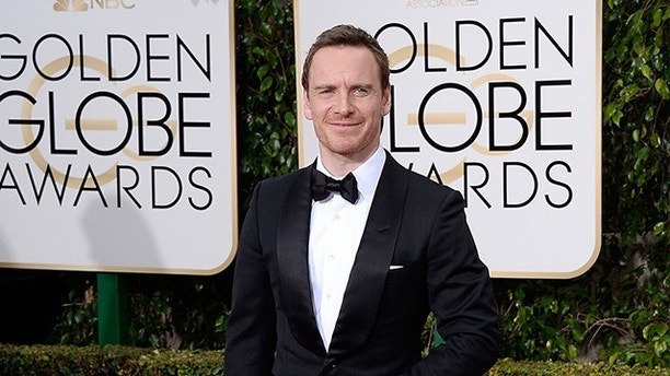 BEVERLY HILLS, CA - JANUARY 10:  73rd ANNUAL GOLDEN GLOBE AWARDS -- Pictured: Actor Michael Fassbender arrives to the 73rd Annual Golden Globe Awards held at the Beverly Hilton Hotel on January 10, 2016.  (Photo by Kevork Djansezian/NBC/NBCU Photo Bank via Getty Images)