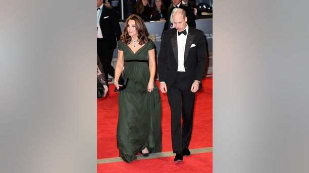 Prince William, Duke of Cambridge and Catherine, Duchess of Cambridge attend the British Academy Film Awards (BAFTA) at the Royal Albert Hall in London, Britain February 18, 2018.  REUTERS/Chris Jackson/Pool - RC16523070C0