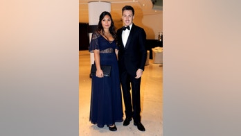 Soccer Football - Golden Foot Award - Monaco - November 7, 2017 - Louis Ducruet, Princess Stephanie of Monaco's son, and his partner Marie arrive to attend the Golden Foot Award ceremony in Monaco. REUTERS/Eric Gaillard - RC19B62E5F30