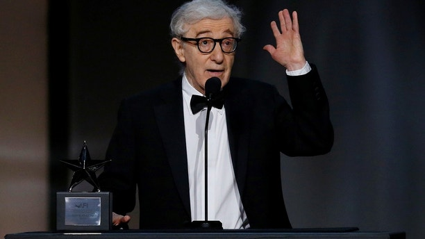 Director Woody Allen speaks on stage at the 2017 American Film Institute Life Achievement Award Show in Los Angeles, California, U.S., June 8, 2017.
