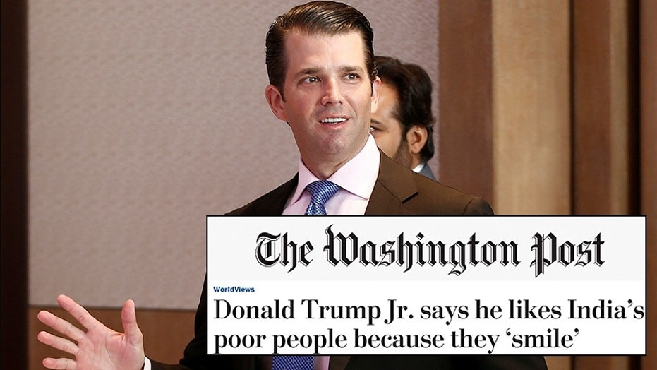 Donald Trump Jr: 'Nonsense' that family's profiting from presidency