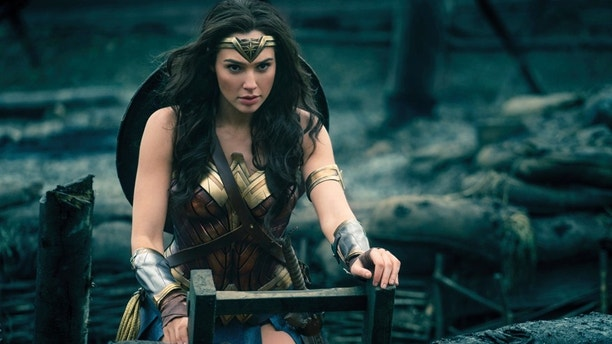 "This image released by Warner Bros. Entertainment shows Gal Gadot in a scene from ""Wonder Woman,"" in theaters on June 2."